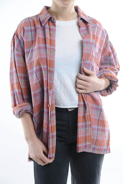 Heavyweight Pink Flannel Shirt