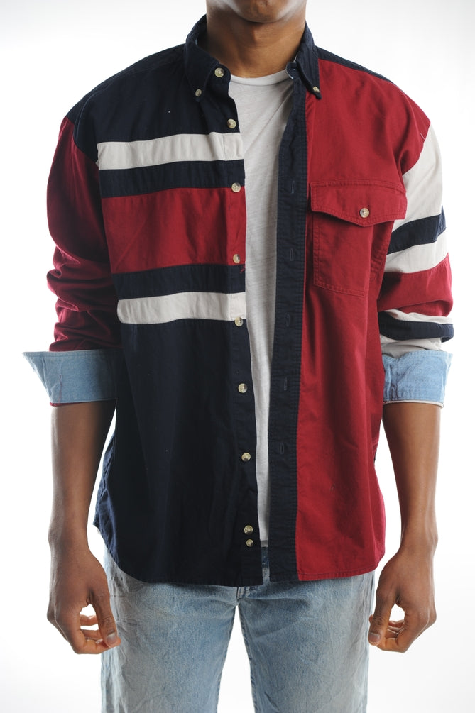 Wrangler Colorblock Button Down
