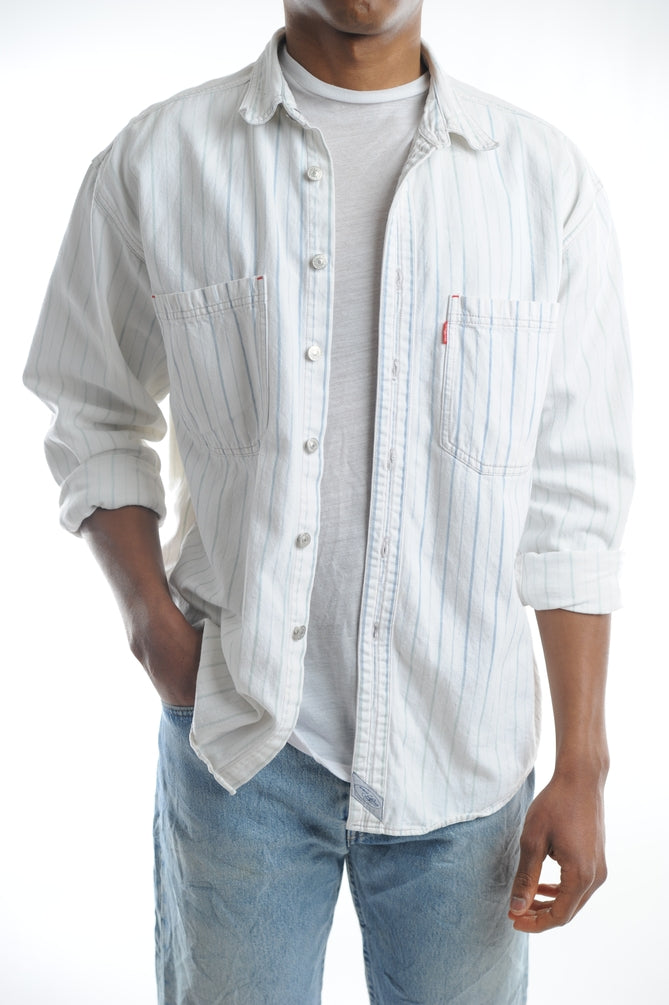 Levi's White Denim Button Down