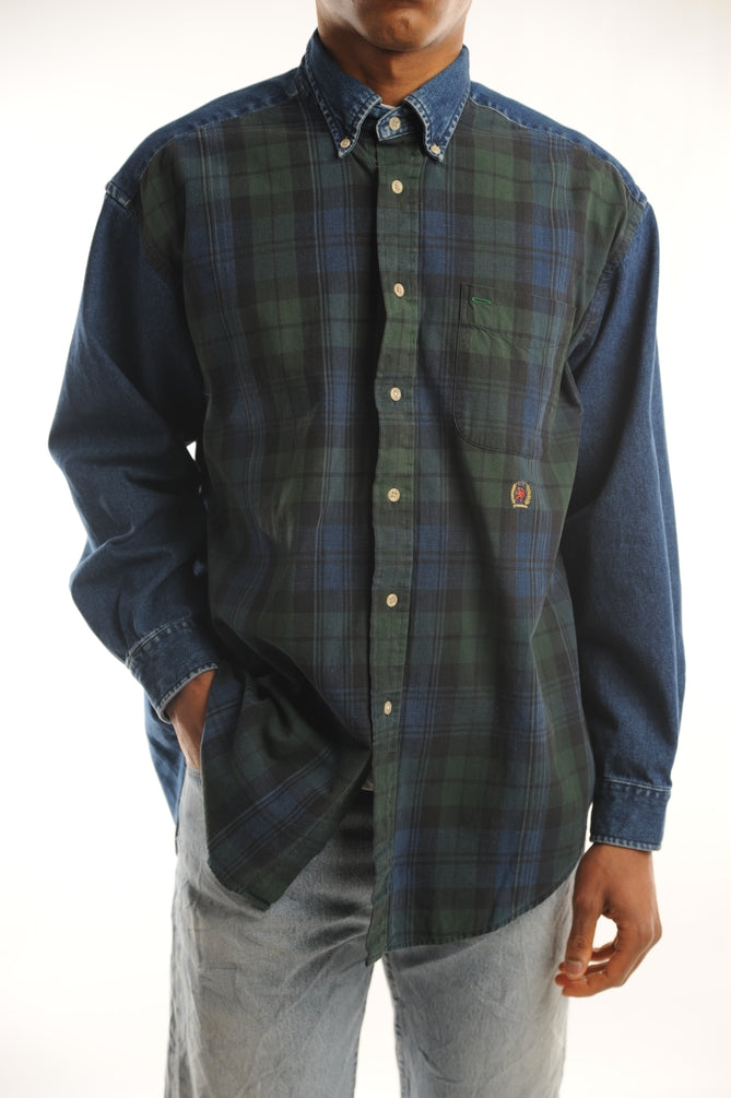 Tommy Hilfiger Denim Plaid Button Down