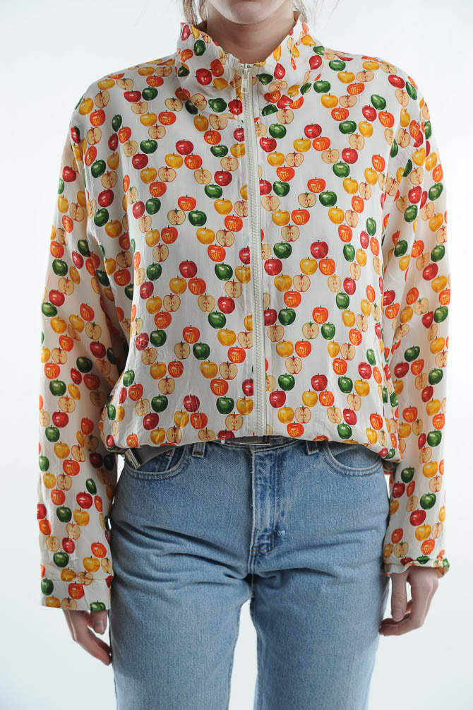 Apple Print Windbreaker