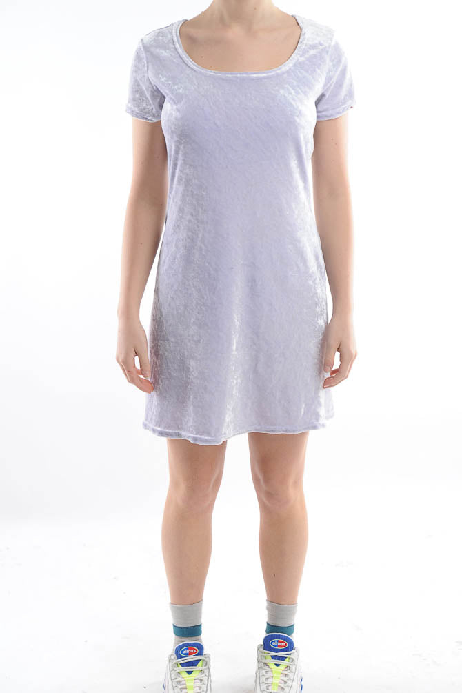Light Lilac Mini Velvet Dress