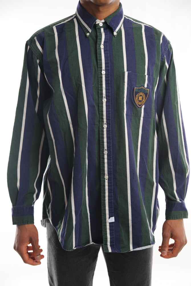 Ralph Lauren Blue Striped Button Down