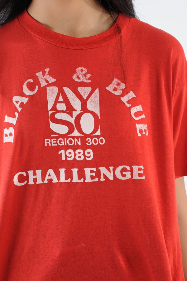 Black and Blue Challenge Tee