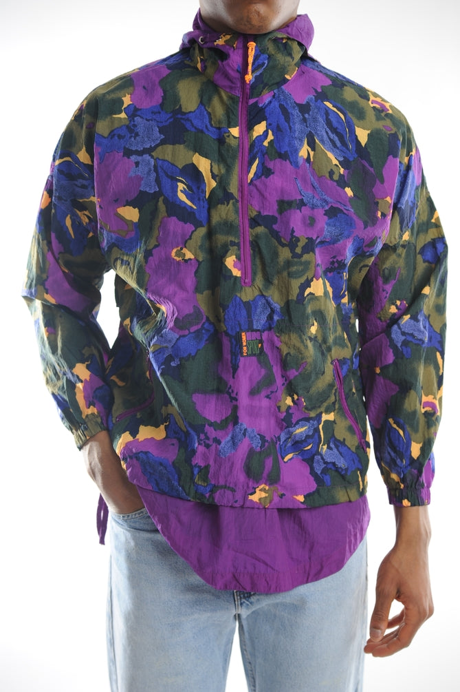 Abstract Strokes Windbreaker