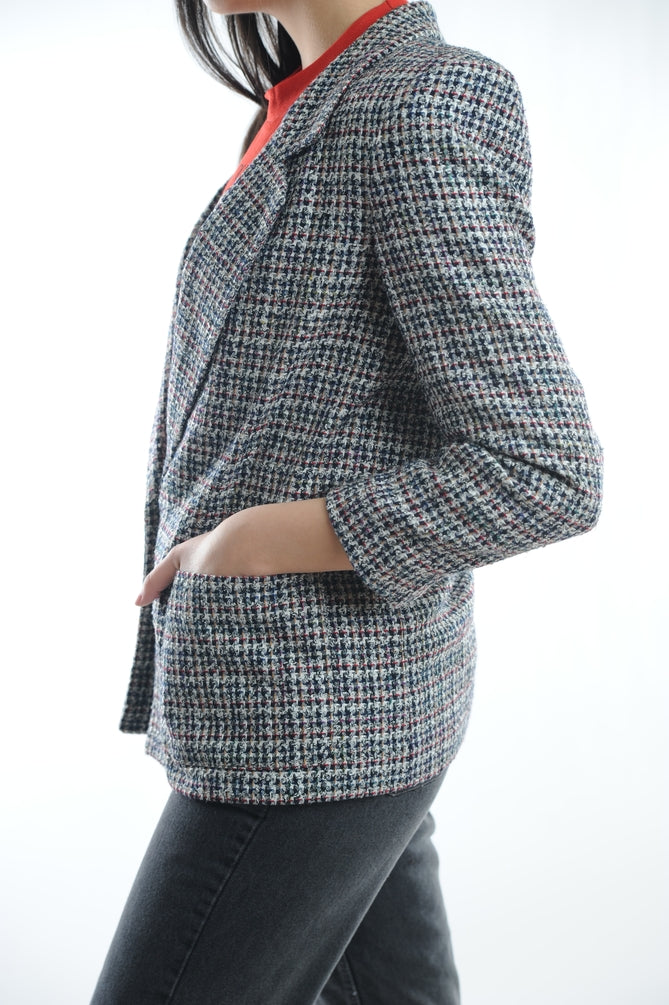 Gray Tweed Blazer