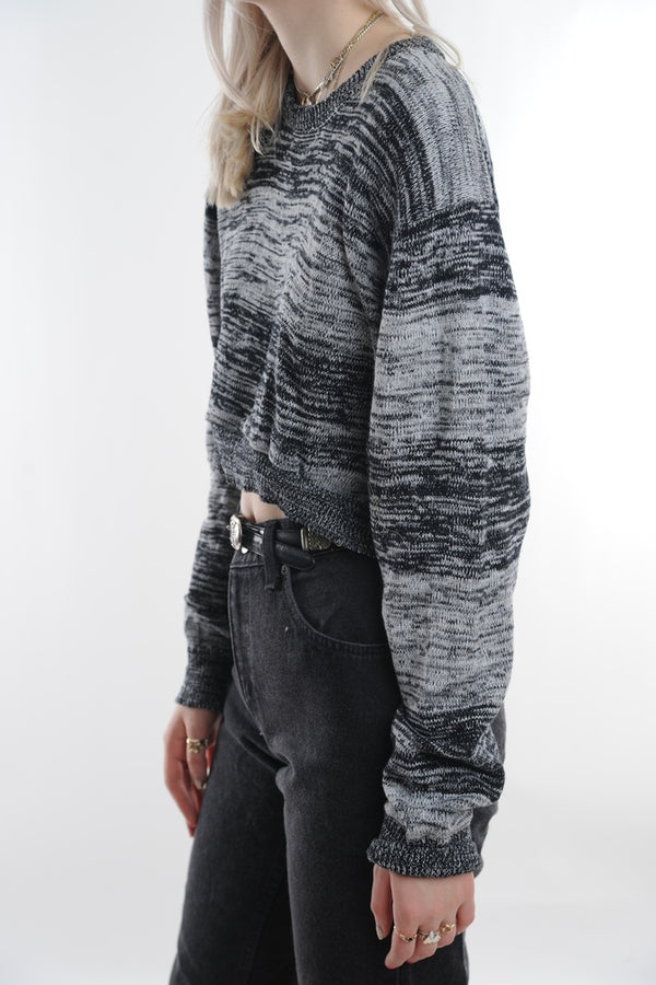 Heathered Cropped Sweater