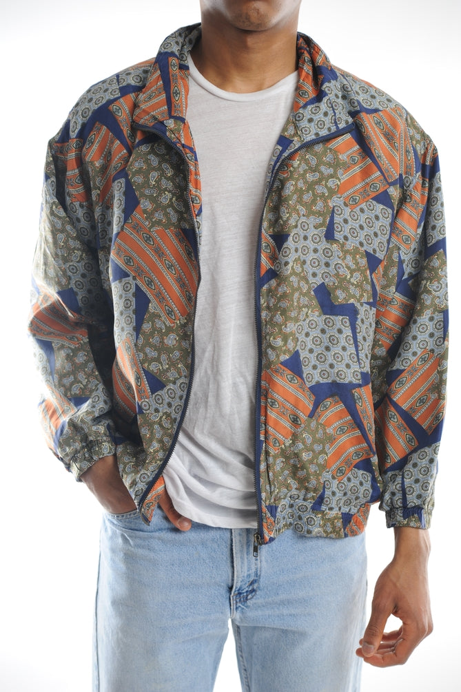 Silk Printed Windbreaker