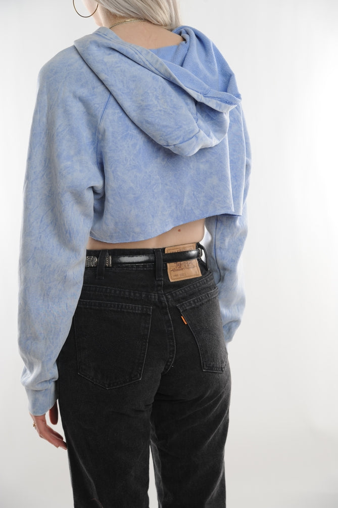Adidas Cropped Acid Wash Sweatshirt