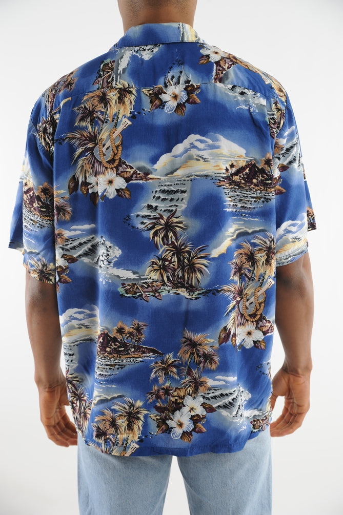 Blue Island Hawaiian Shirt