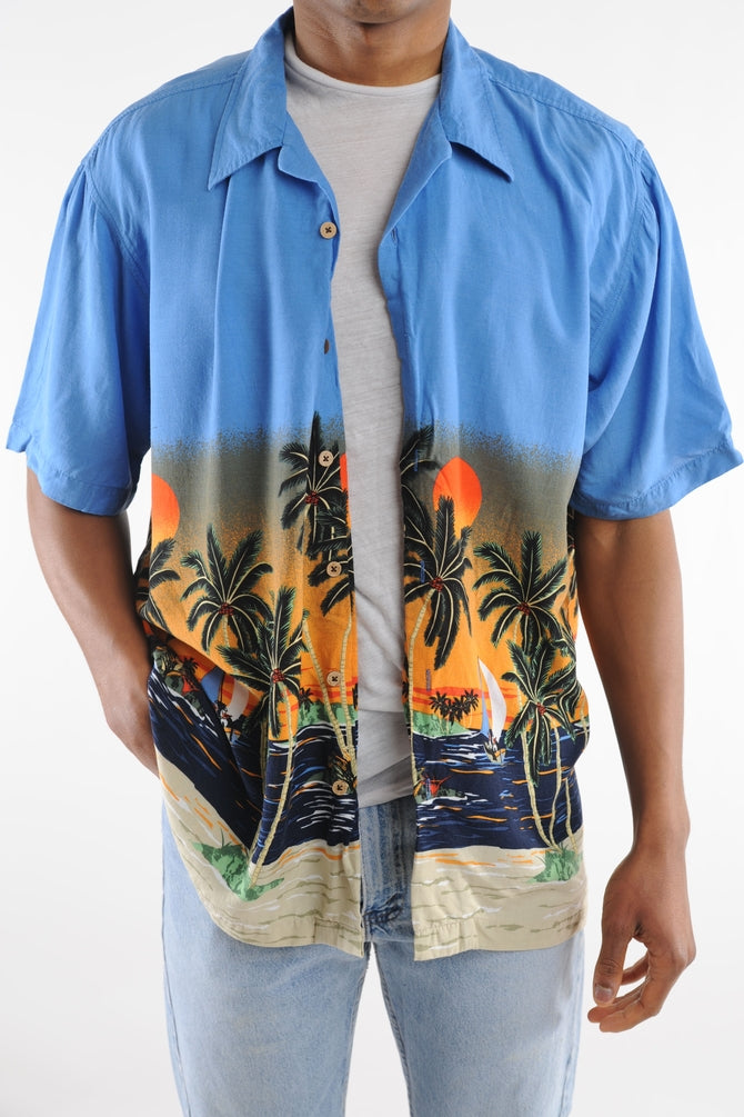 Beach Sunset Hawaiian Shirt