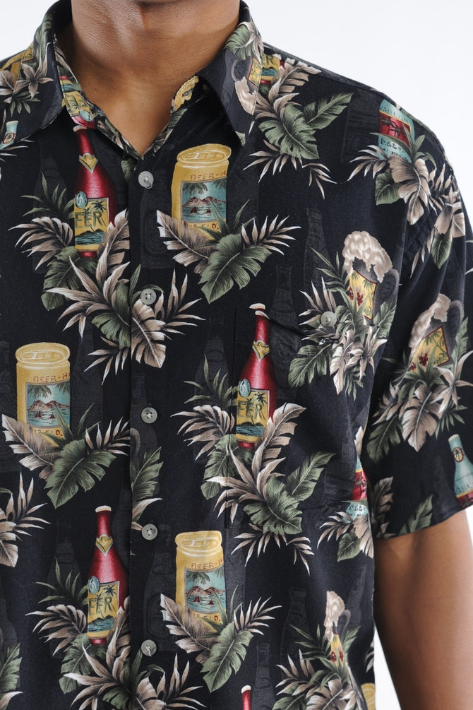Black Beer Hawaiian Shirt
