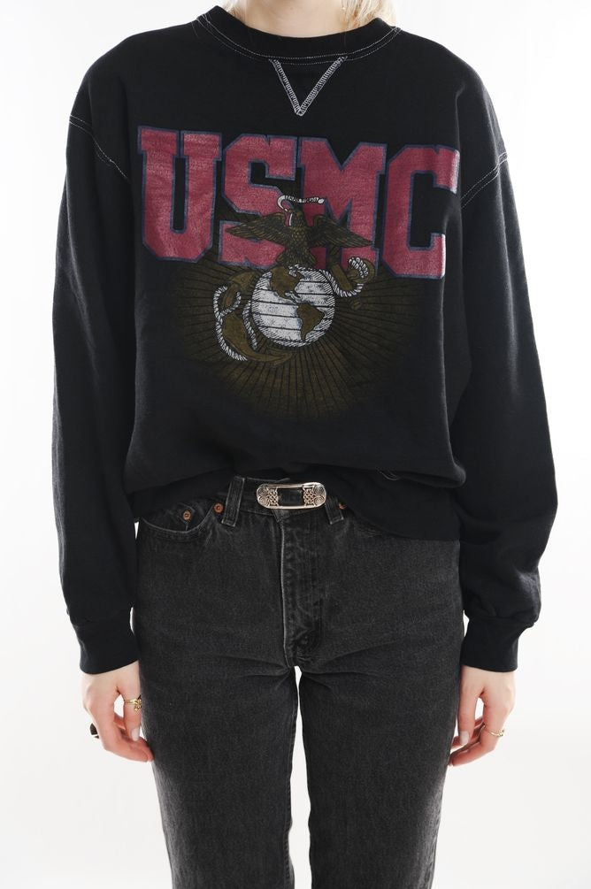 Black USMC Sweatshirt
