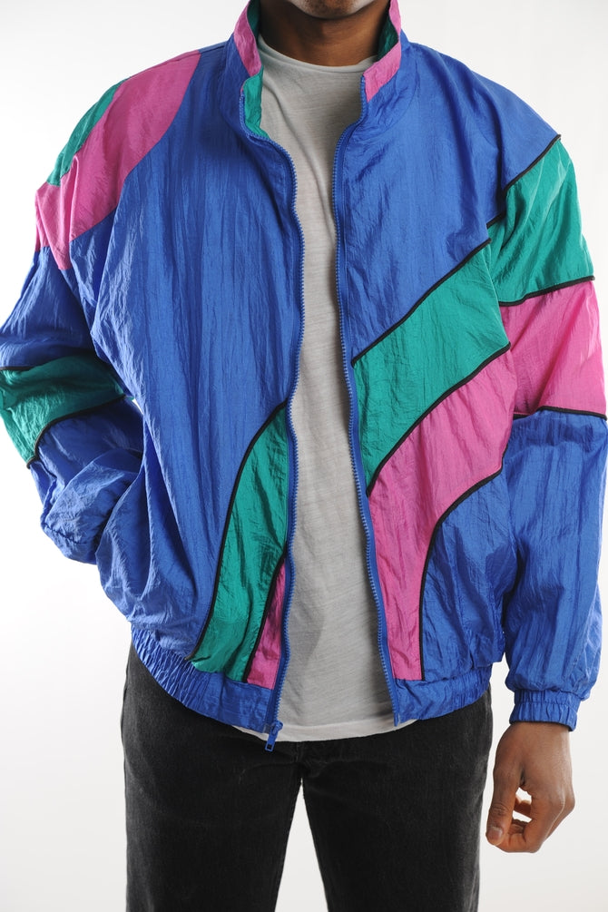 Blue Colorblock Windbreaker