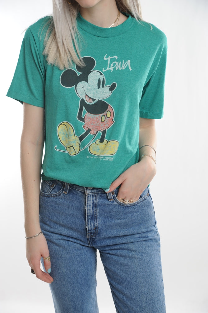 Green Mickey Mouse Tee