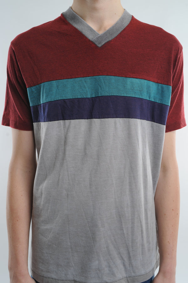 Adidas Striped V-Neck