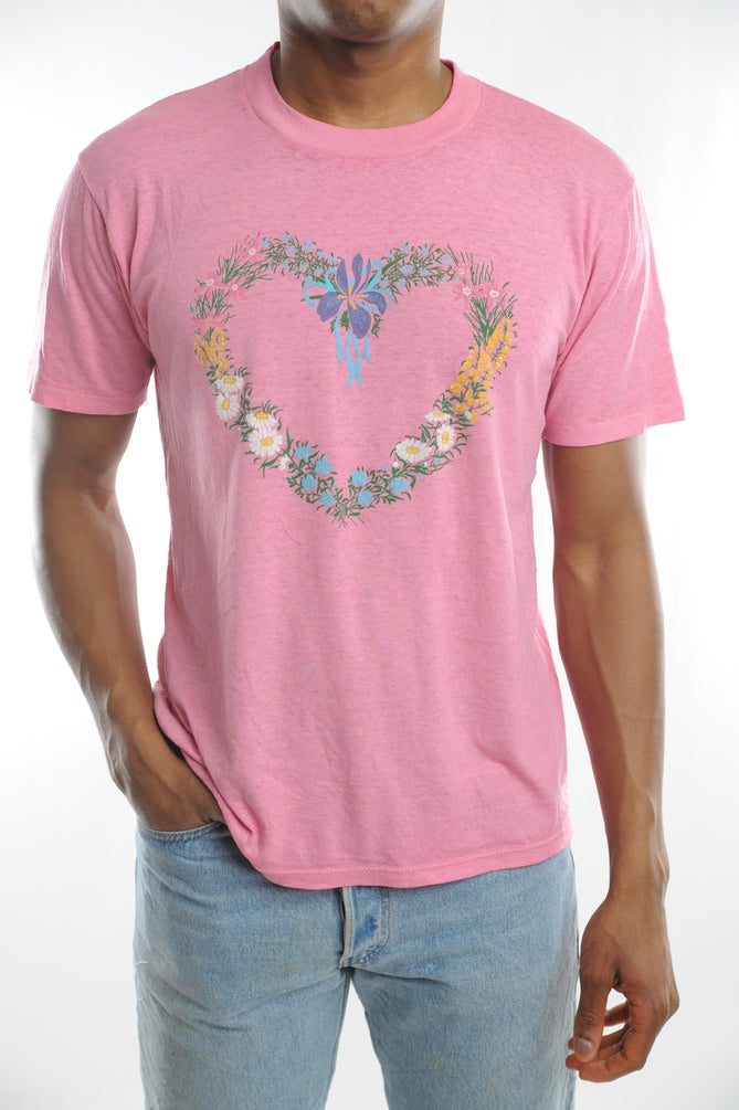 Floral Heart Wreath Tee