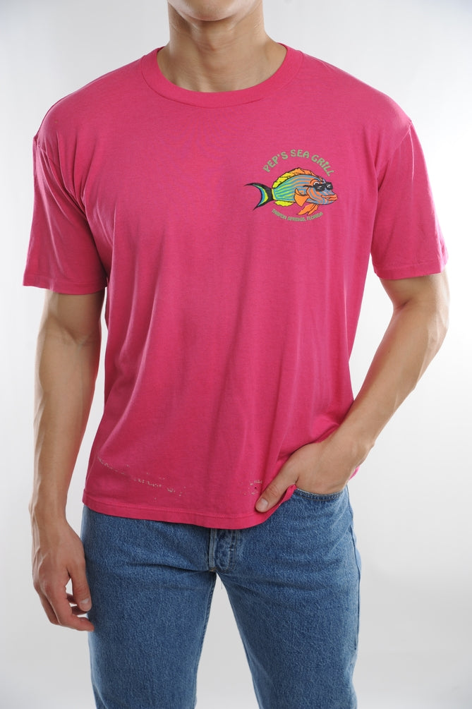 Pink Pep's Sea Grill Tee
