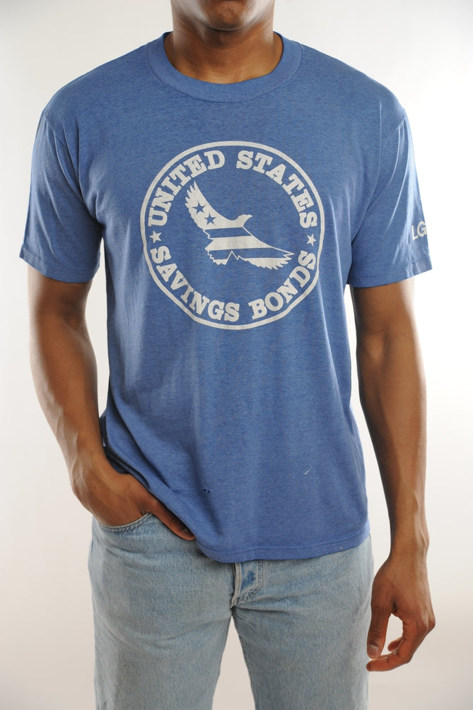 Blue US Saving Bonds Tee