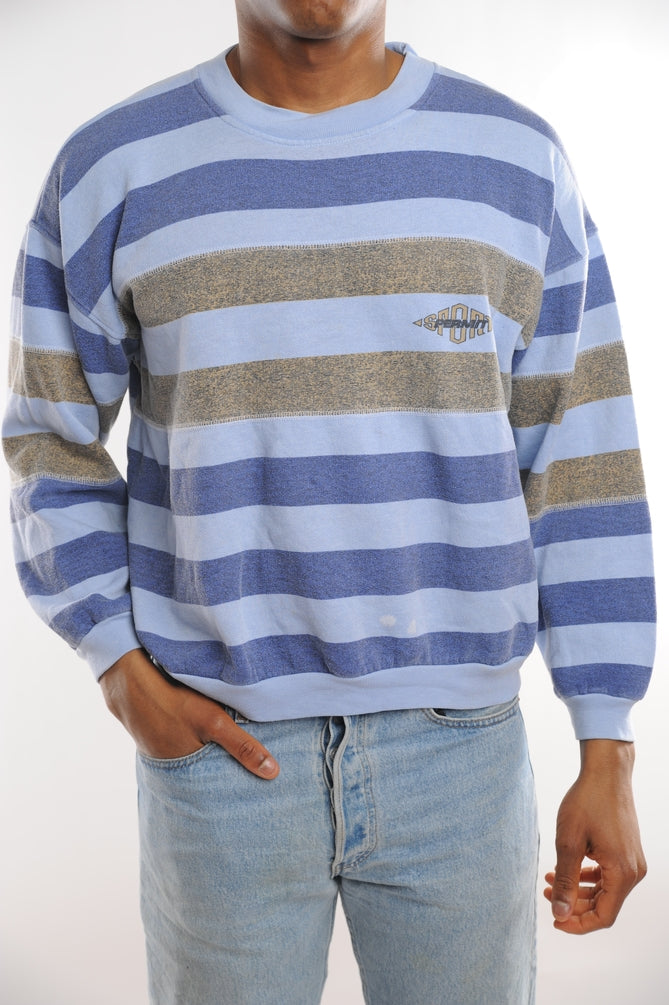 Blue Striped Sweatshirt