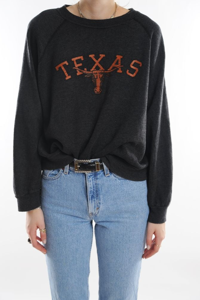 Charcoal Texas Sweatshirt