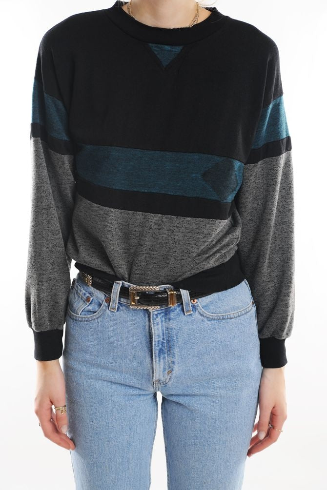 Gray Colorblock Sweatshirt