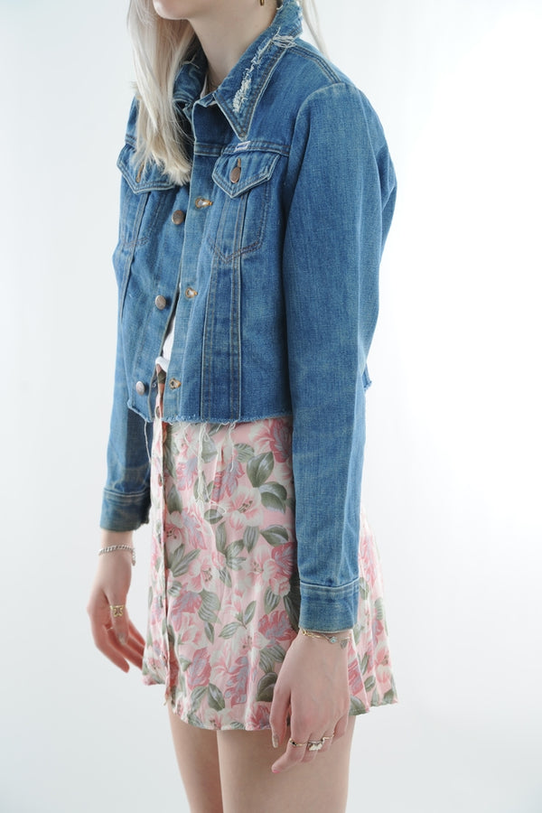 Cropped Wrangler Denim Jacket
