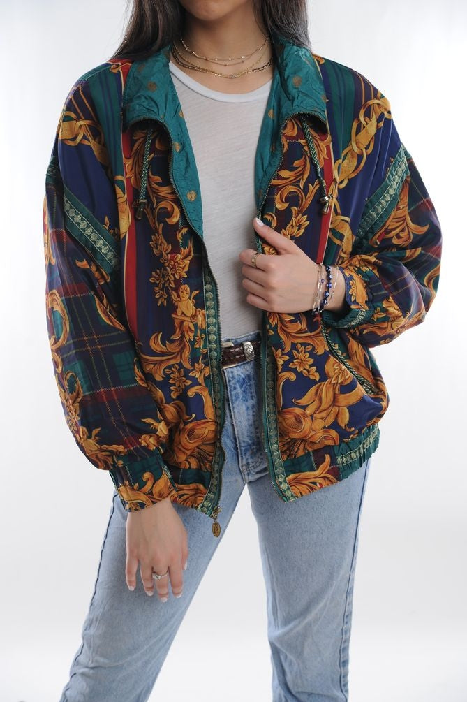 Baroque Print Windbreaker