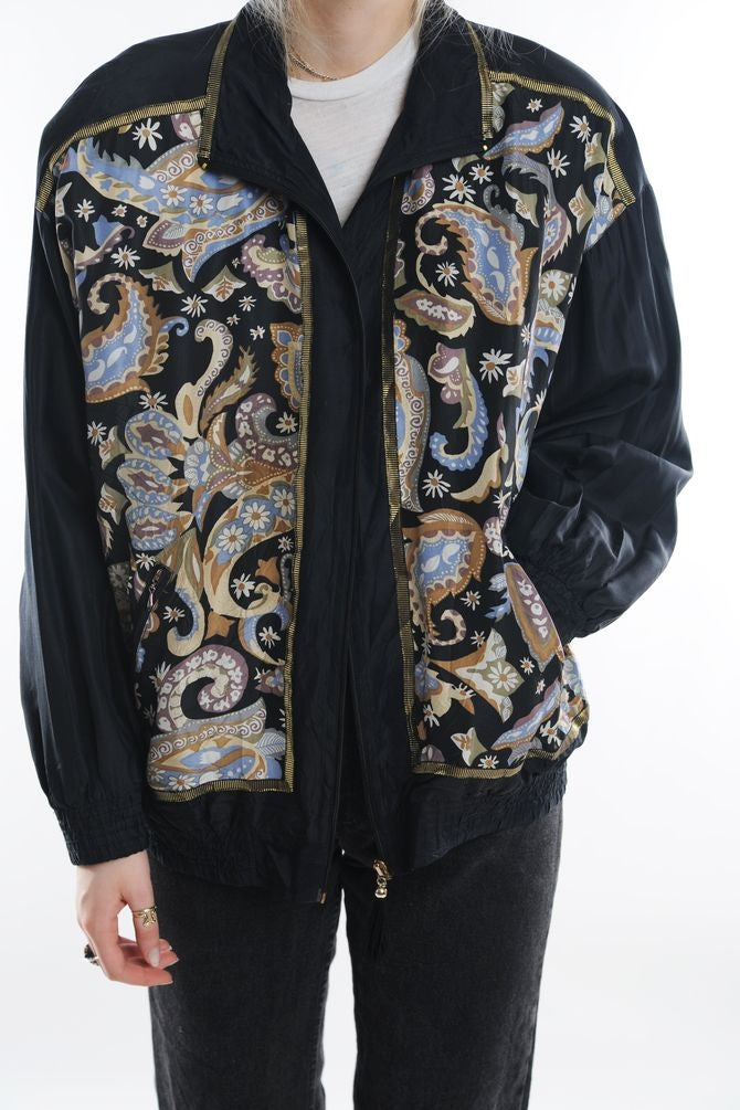 Black Paisley Windbreaker