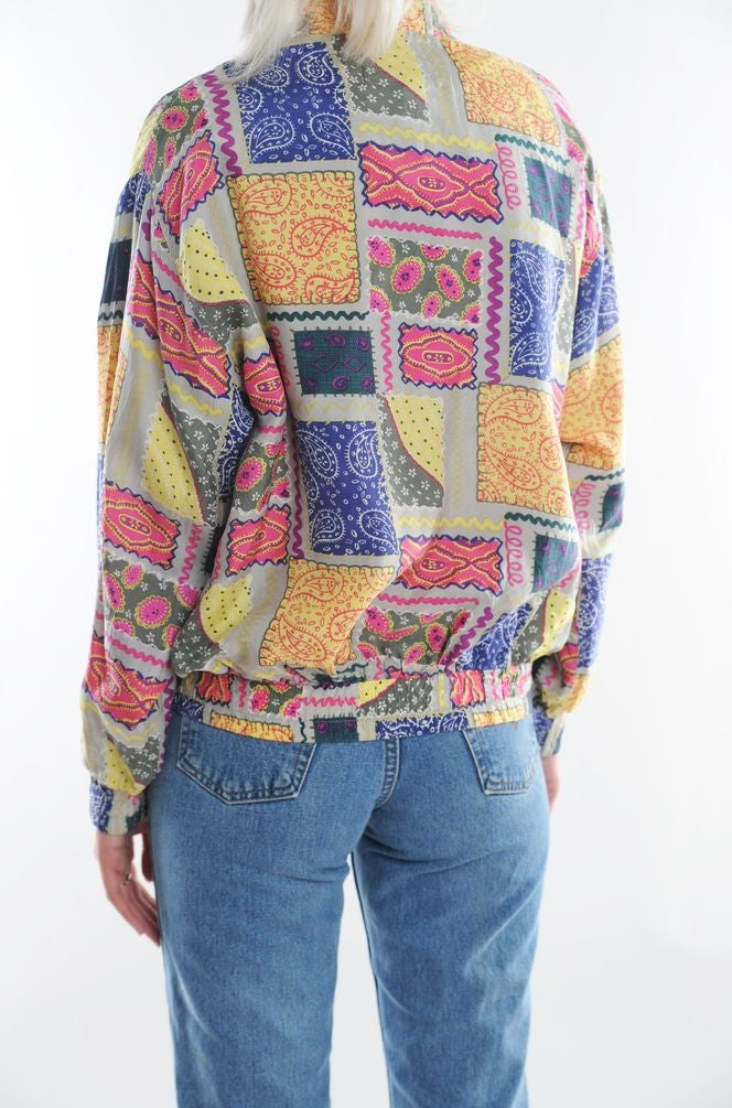 Paisley Patchwork Windbreaker