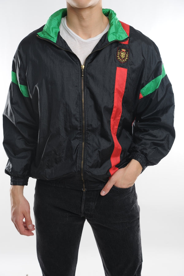 Black Red and Green Windbreaker