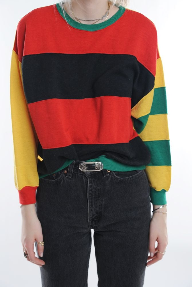 Multi Striped Sweatshirt