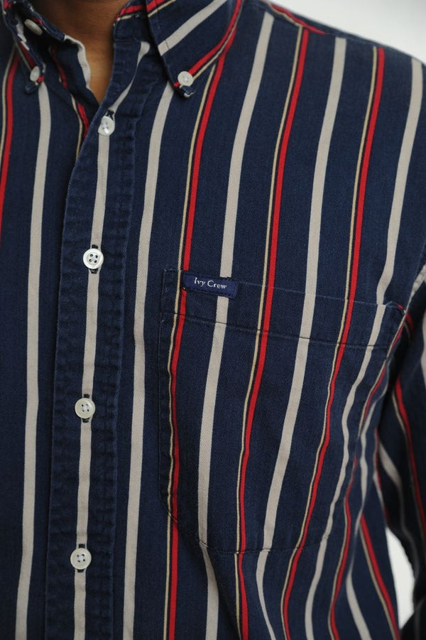 Faded Blue Striped Button Down