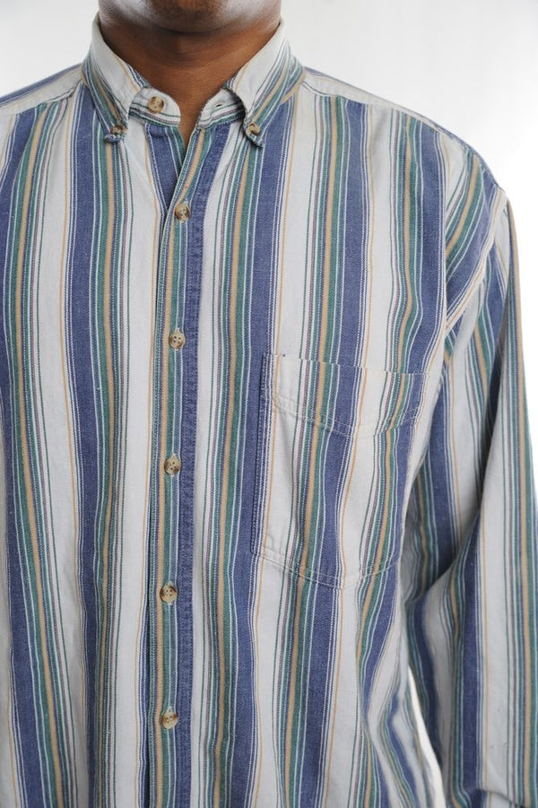 Blue Striped Button Down