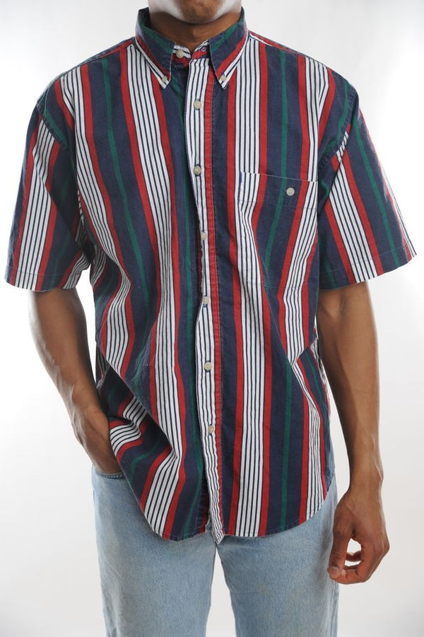 Bugle Boy Red Striped Button Down
