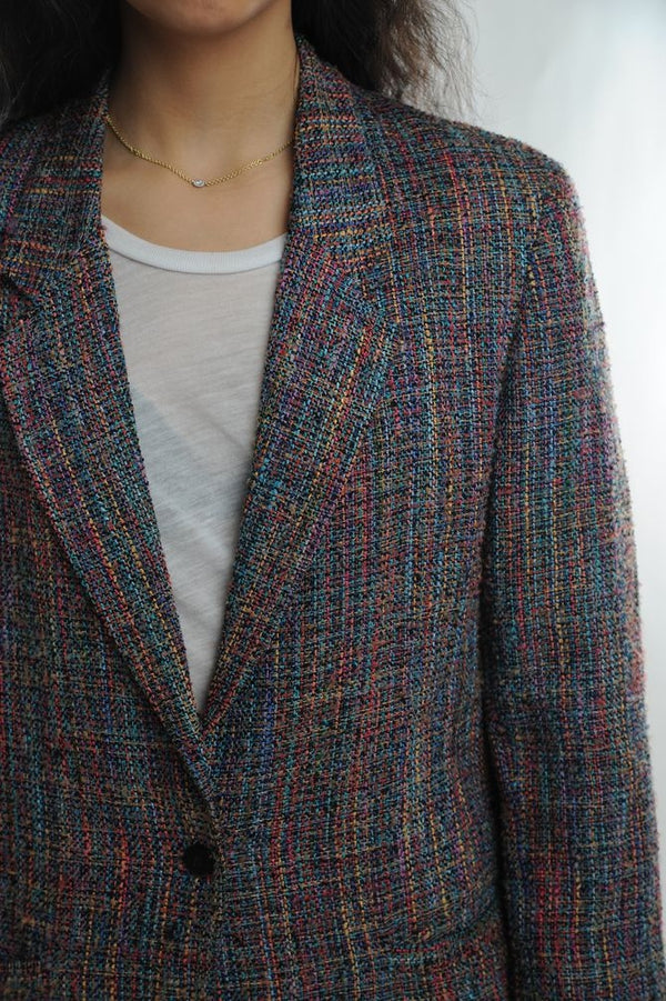Rainbow Stitch Wool Blazer