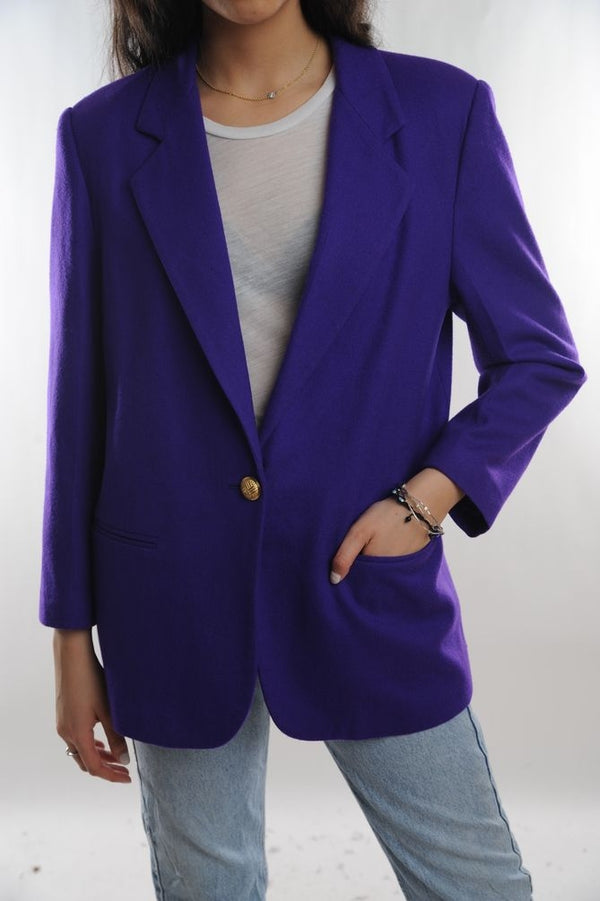 Royal Blue Wool Blazer