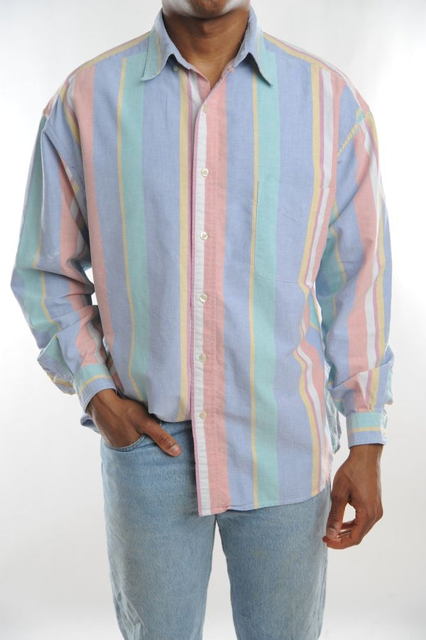 Pastel Striped Button Down