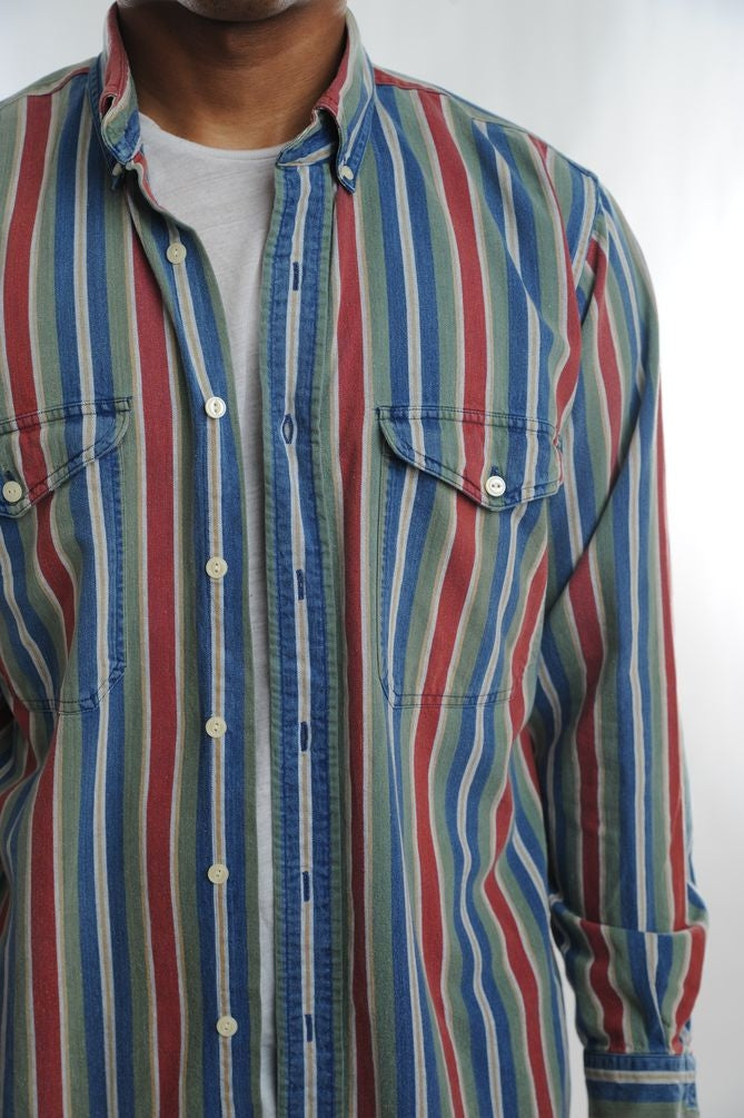 Multi Striped Button Down