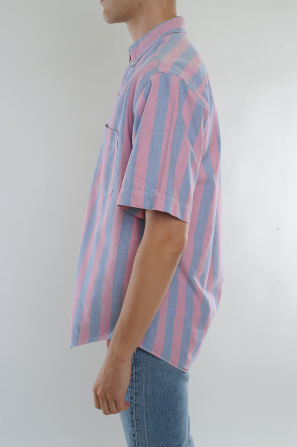 Faded Striped Button Down