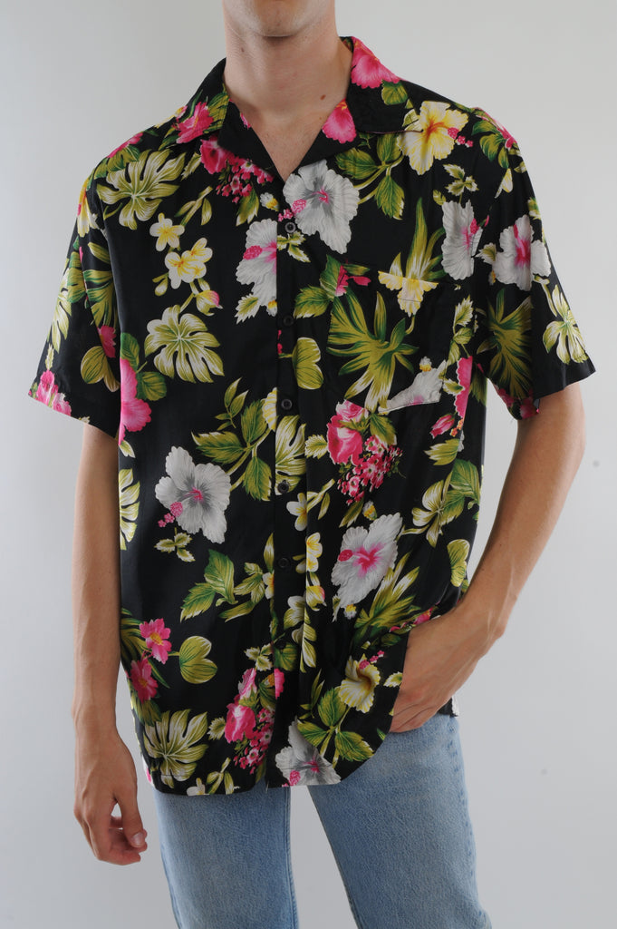 Black Hawaiian Shirt