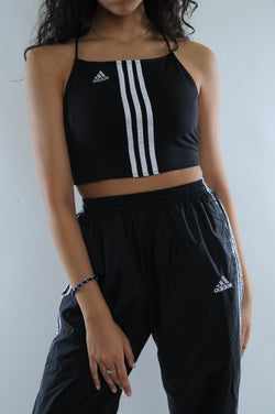 Adidas Embroidered Halter Tie Top