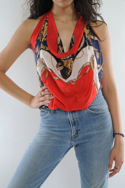 Silk Scarf Top