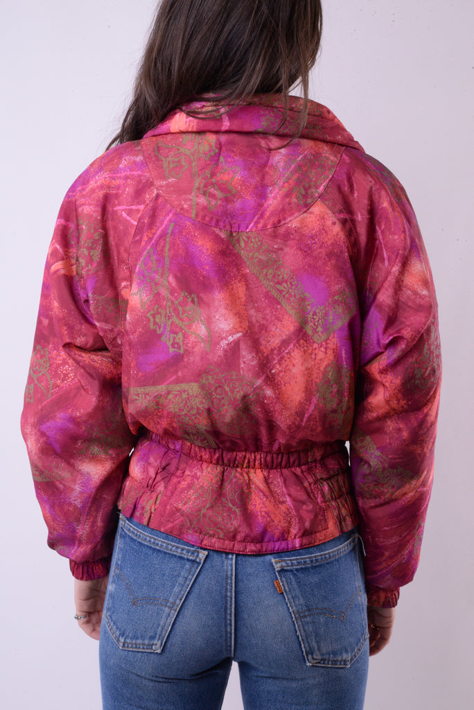 Abstract Puffer Jacket