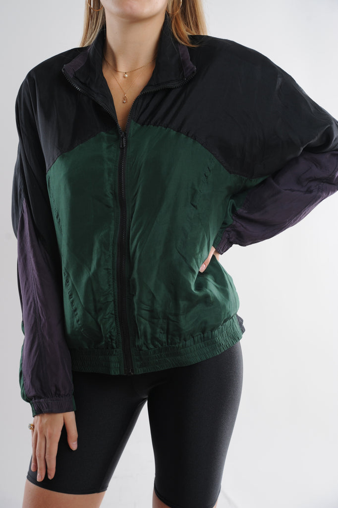 Colorblock Silk Windbreaker