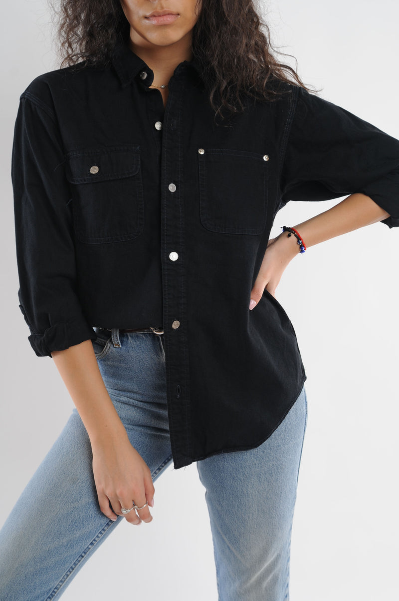 Black Denim Shirt