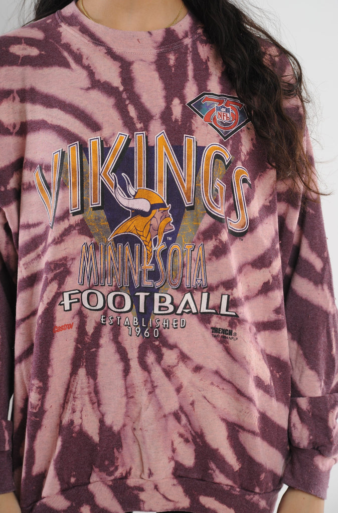 Red Viking's Tie Dye Sweatshirt
