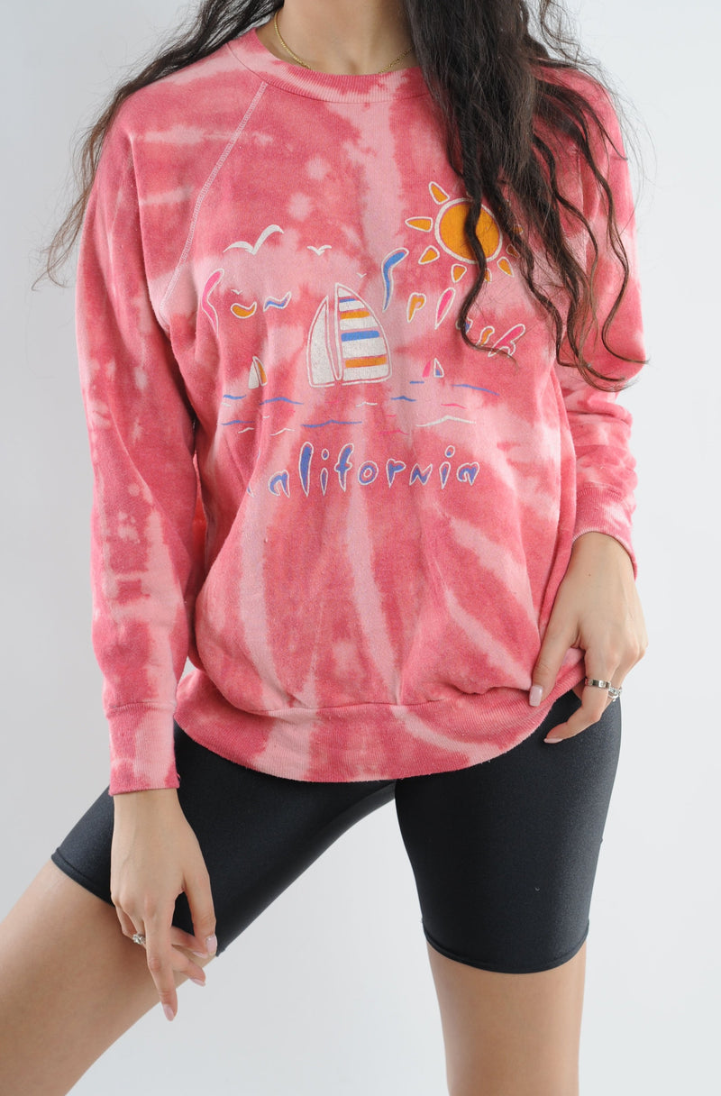 California Tie Dye Sweatshirt