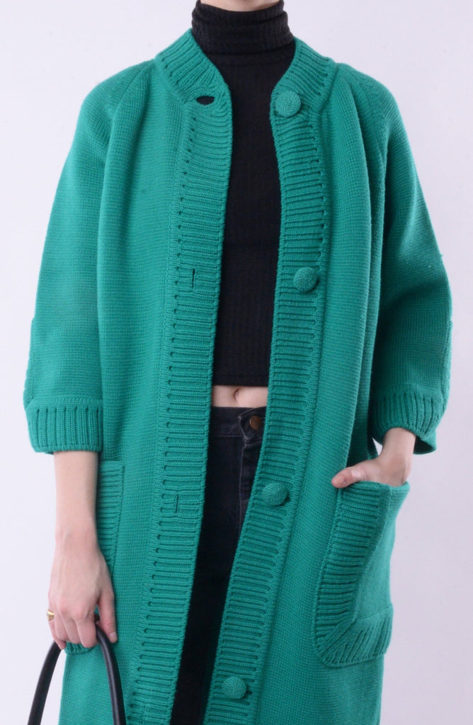 Jade Green Sweater Jacket