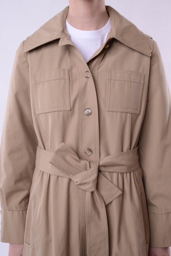 Removable Hood Trench Coat